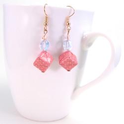 rosa Ohrringe für Mädchen