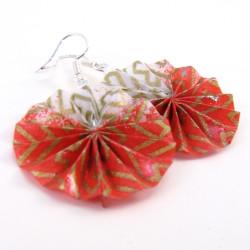 Modeschmuck Ohrringe in rot-weiß