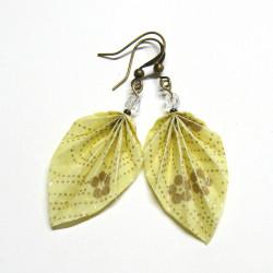 Origami Blätter Ohrringe