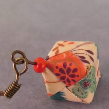 Origami Würfel Ohrringe