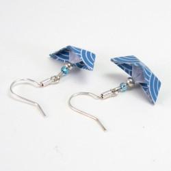 Origami Schiffchen Ohrringe