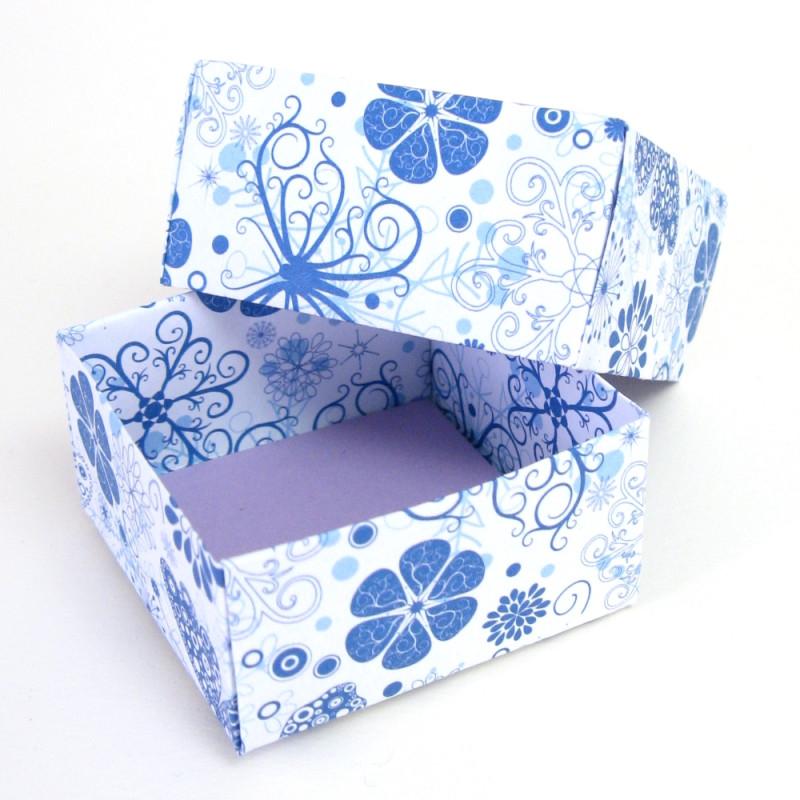 blumige Geschenkbox für Schmuckstücke