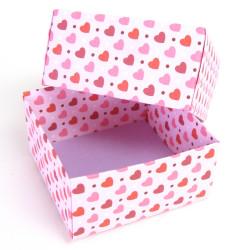 Geschenkbox für Ohrringe mit Herzchen